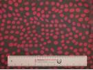 Printed Chiffon Fabric - Cerise Spot on Black