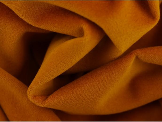 Woven Cotton Velvet Fabric - Mustard