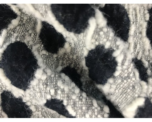 Pure Wool - Reversible Black and White Spot