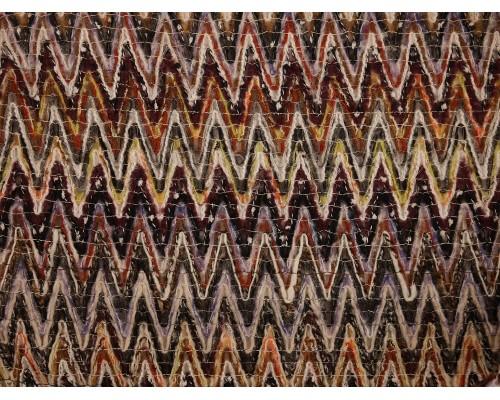 Coarse Gauge Knit Fabric - Zigzag