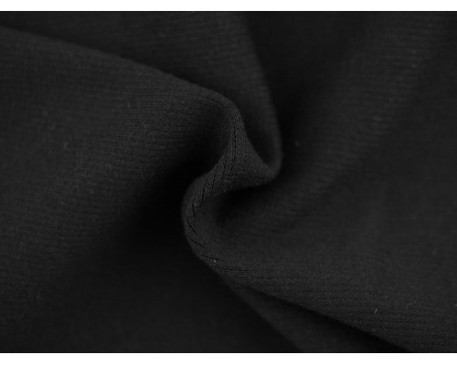 Double Jersey Rib Fabric - Black