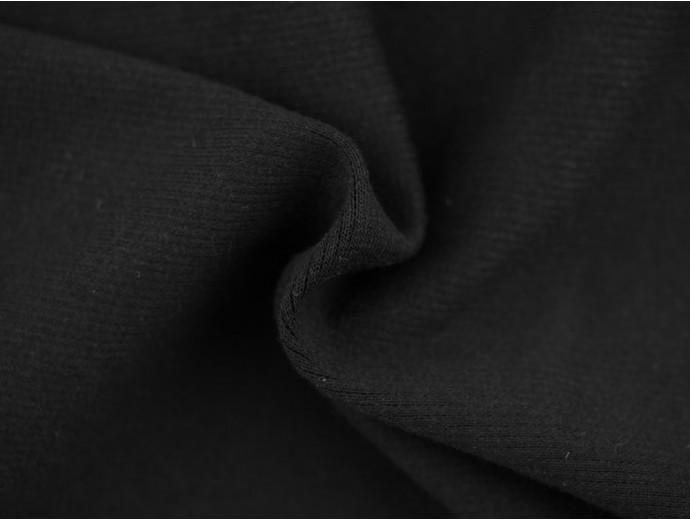 Double Jersey Rib Fabric - Black