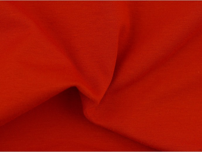 Single Jersey Fabric - Burnt Orange