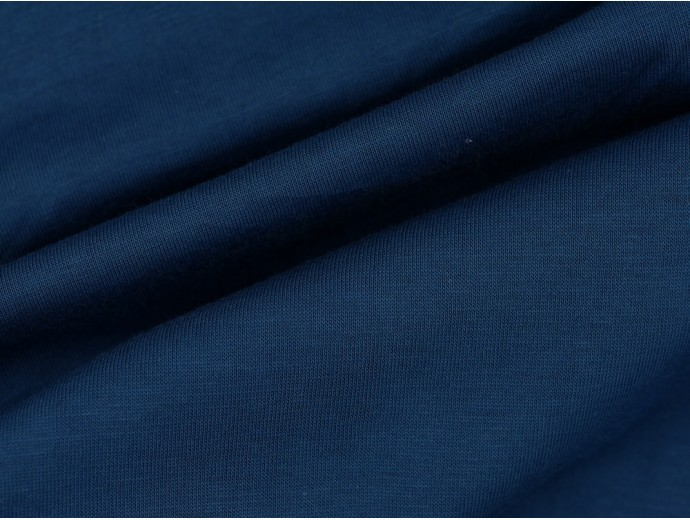 Single Jersey Fabric - Ink Blue
