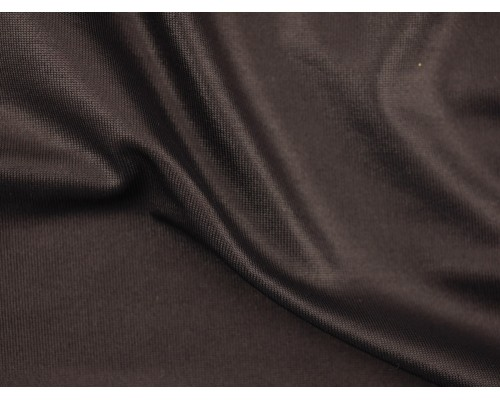 Single Jersey Cire Wet Look Fabric - Black