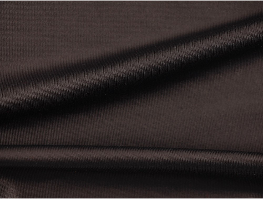 Single Jersey Cire Wet Look Fabric Black
