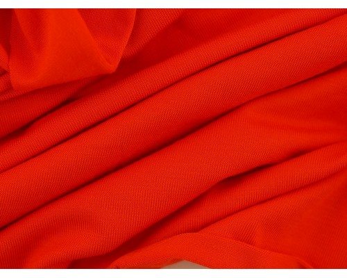 Single Jersey Fabric - Bright Coral