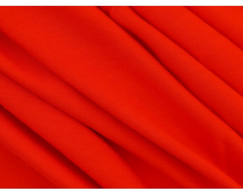 Single Jersey Fabric - Firey Red
