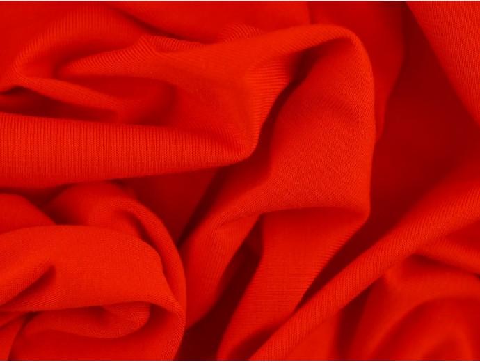 Single Jersey Fabric - Firey Red