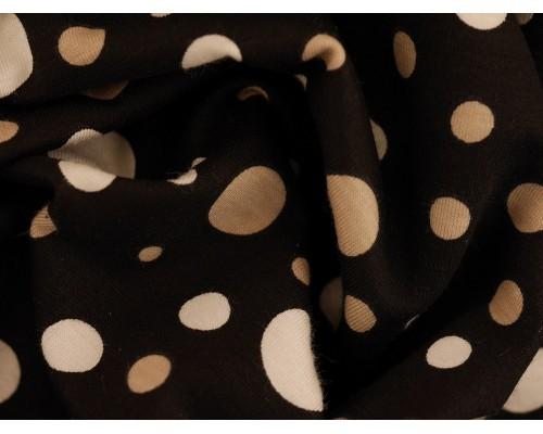Printed Viscose Jersey Fabric - Polka Dotty