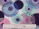 Printed Viscose Jersey Fabric - Circles