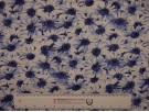 Printed Viscose Jersey Fabric - Blue Daisy