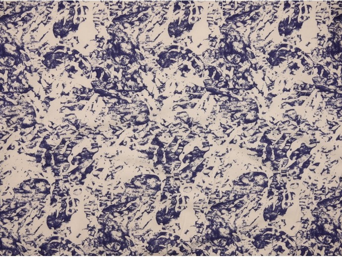 Printed Viscose Jersey Fabric - Abstract Block