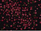 Printed Viscose Jersey Fabric - Pink Flowers on Navy