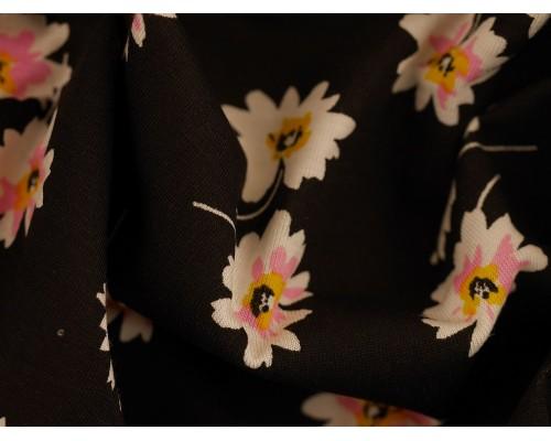 Printed Viscose Jersey Fabric - Marcia Daisy