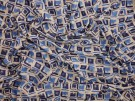 Printed Viscose Jersey Fabric - Rain Blocks