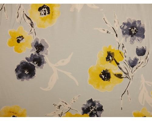 Printed Viscose Jersey Fabric - Posey Rosey