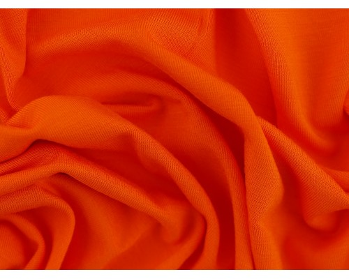 Single Jersey Fabric - Orange