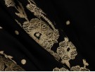 Printed Viscose Jersey Fabric - Cream Mirror Border on Black