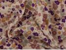 Printed Viscose Jersey Fabric - Ditsy Purple / Peach