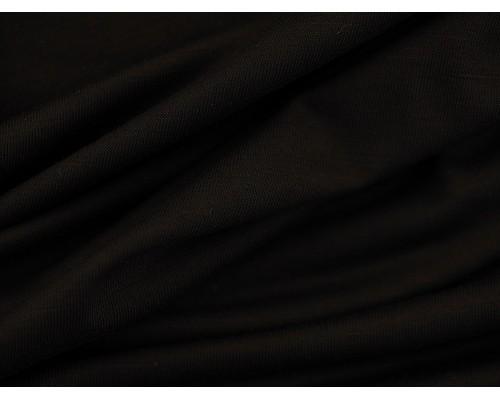 Organic Interlock Jersey Fabric - Black