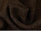 Herringbone Fabric - Black / Taupe