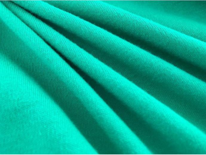 Organic Interlock Jersey Fabric - Emerald