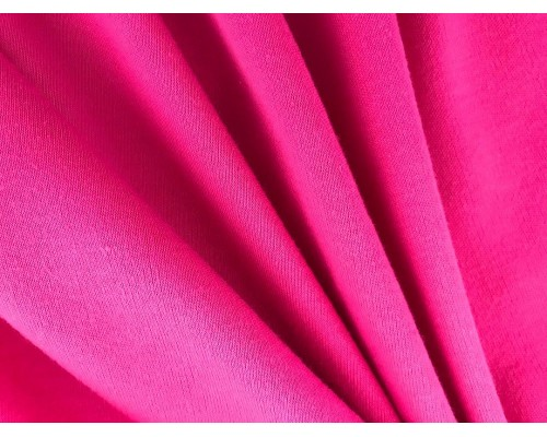 Organic Interlock Jersey Fabric - Fuchsia
