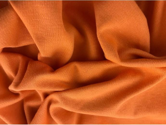 Organic Interlock Jersey Fabric - Orange