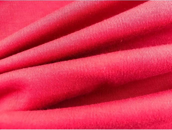 Organic Interlock Jersey Fabric - Red