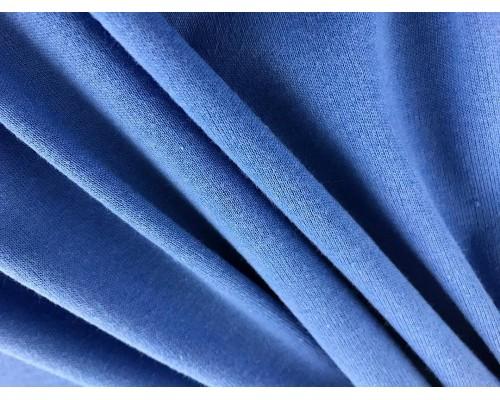 Organic Interlock Jersey Fabric - Royal