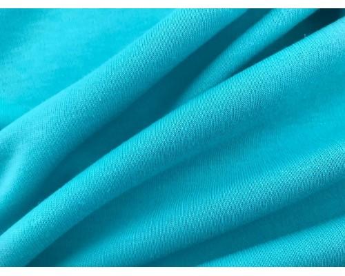 Organic Interlock Jersey Fabric - Turquoise