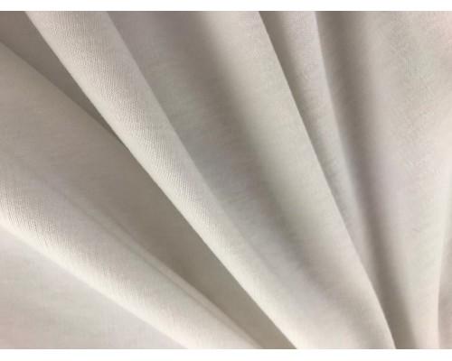 Organic Interlock Jersey Fabric - White