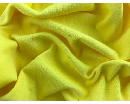 Organic Interlock Jersey Fabric - Yellow