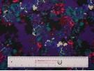 Single Jersey Fabric - Purple Floral Print