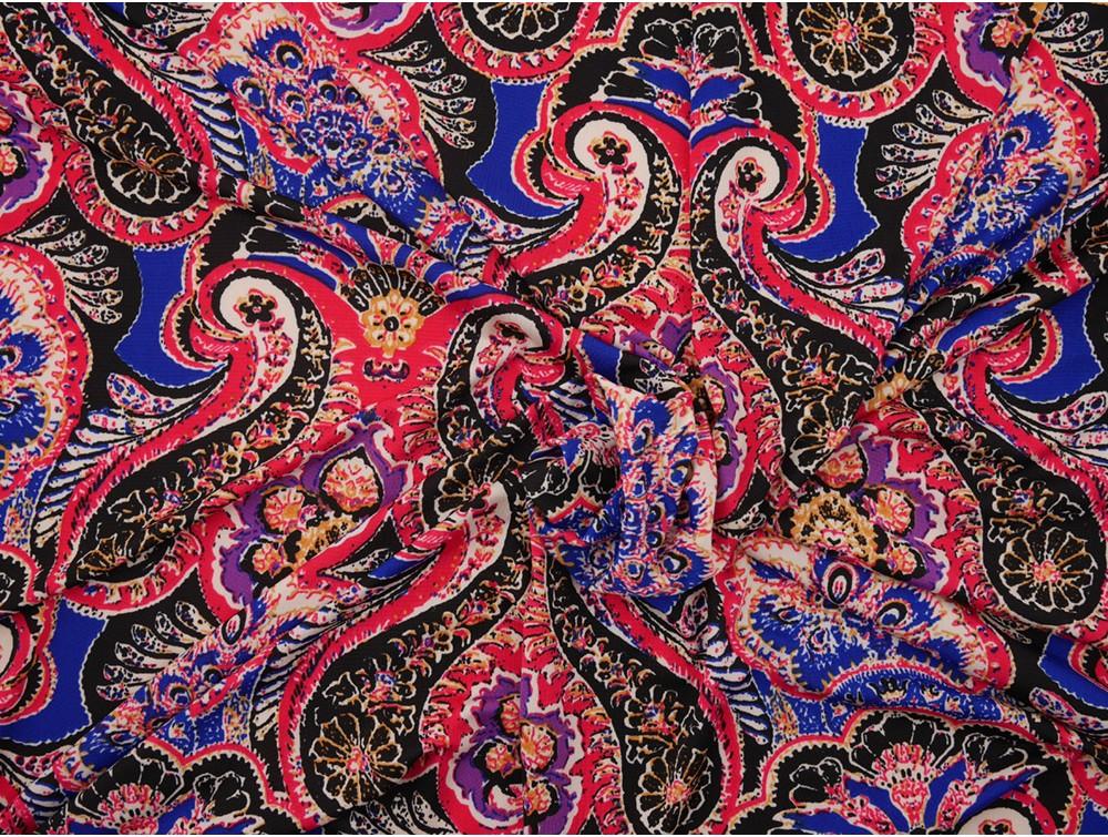 Single Jersey Fabric Paisley Print