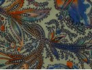 Single Jersey Printed Fabric - Abstract Foxglove