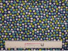 Single Jersey Printed Fabric - Green Spot on Blue