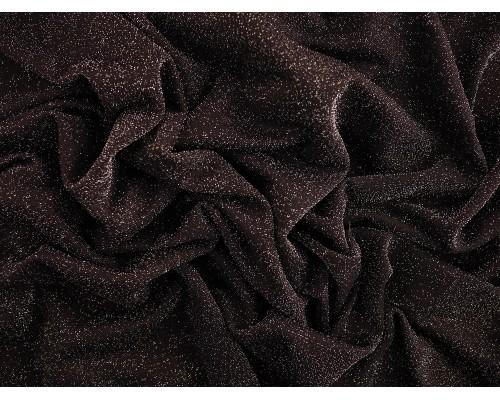 Metallic Jersey Fabric - Silver Sparkle on Black