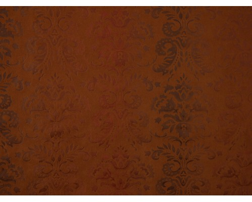 Embossed Printed Mock Suede Fabric - Mustard