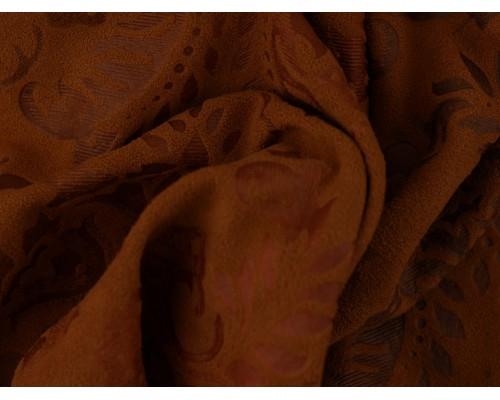 Embossed Printed Mock Suede Fabric - Mustard