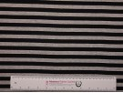 Single Jersey Stripe Fabric - Black / Marl Grey