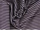 Single Jersey Fine Stripe Fabric - Navy / White