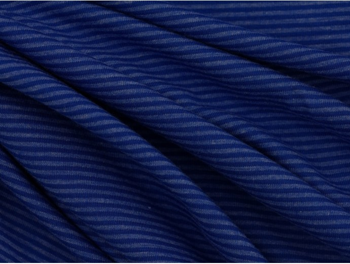 Single Jersey Stripe Fabric - Blue