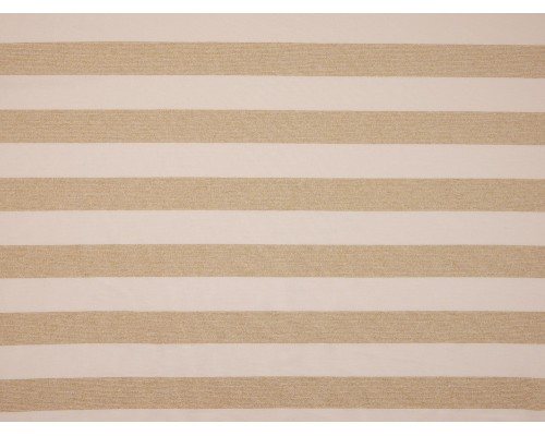 Single Jersey Stripe Fabric - Gold / Cream