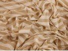 Single Jersey Stripe Fabric - Gold / Cream