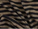 Single Jersey Fine  Stripe Fabric - Navy / Grey