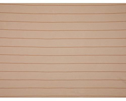 Single Jersey Stripe Fabric - Beige / Gold