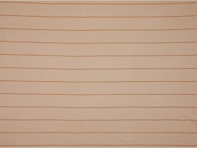 Single Jersey Stripe Fabric - Beige / Gold
