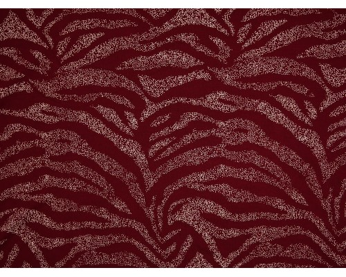 Single Jersey Printed Fabric - Claret with White Spray
